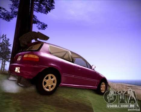 Honda Civic 1994 para GTA San Andreas traseira esquerda vista