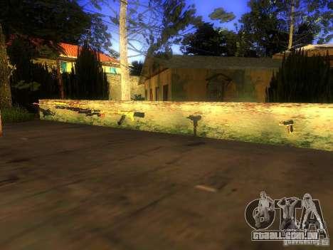 Armas na Grove Street para GTA San Andreas terceira tela