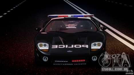 Ford GT1000 Hennessey Police 2006 [EPM][ELS] para GTA 4 vista inferior