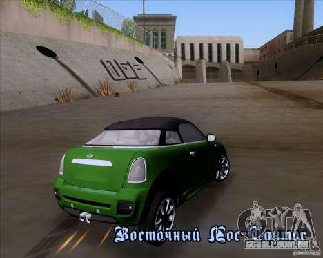 Mini Cooper Concept v1 2010 para GTA San Andreas traseira esquerda vista