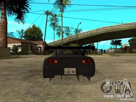 Nissan Skyline R34 GT-R para GTA San Andreas traseira esquerda vista