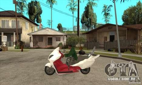 Honda Forza para GTA San Andreas esquerda vista
