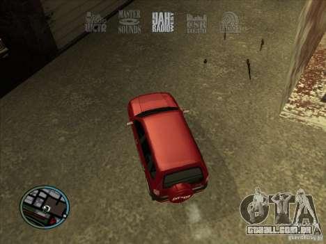 RADIO HUD IV 3.0 para GTA San Andreas segunda tela