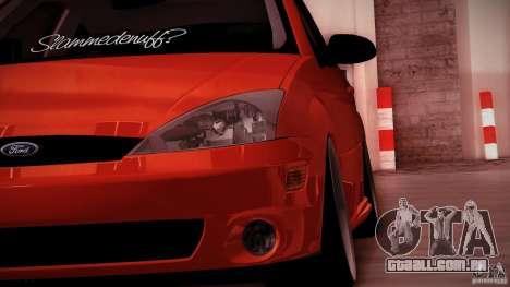 Ford Focus SVT Clean para GTA San Andreas traseira esquerda vista