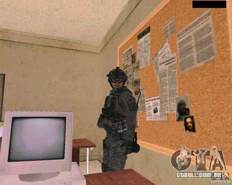 Pele do soldado do Cod MW 2 para GTA San Andreas terceira tela