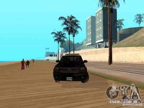 Chevrolet Tahoe Ontario Highway Police para GTA San Andreas vista traseira