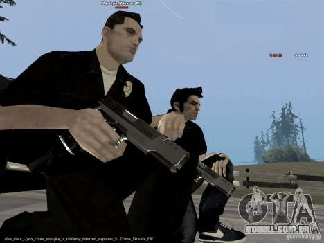 Black & White guns para GTA San Andreas por diante tela