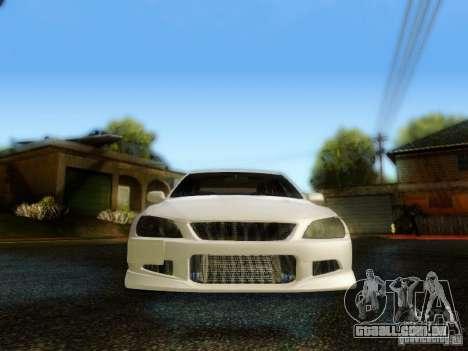Lexus IS300 Jap style para GTA San Andreas vista interior
