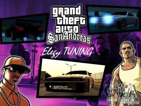 ELEGY TUNING MOD para GTA San Andreas esquerda vista