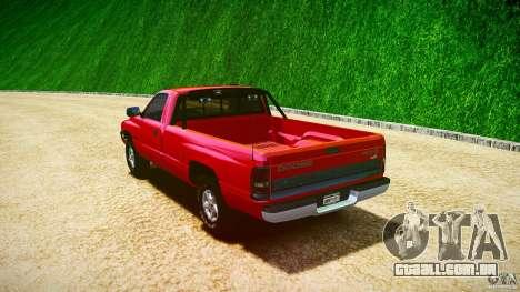 Dodge Ram 2500 1994 para GTA 4 vista superior