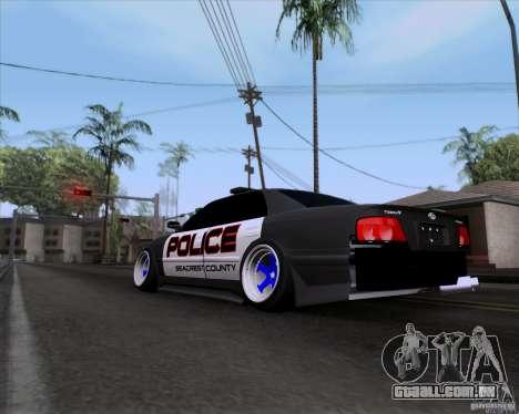 Toyota Chaser jzx100 Drift Police para GTA San Andreas esquerda vista