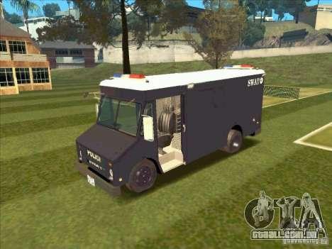 Swat Van from L.A. Police para GTA San Andreas esquerda vista