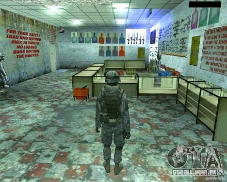 Soldado de infantaria pele CoD MW 2 para GTA San Andreas terceira tela