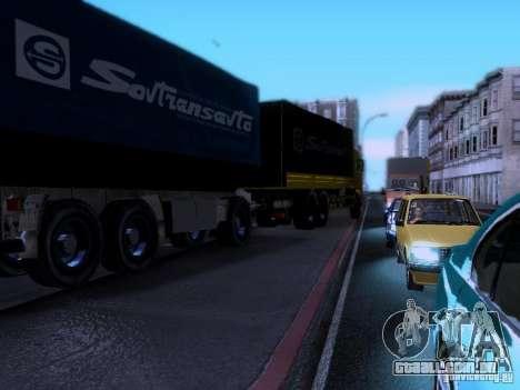 KAMAZ 62177 para GTA San Andreas vista interior