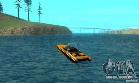 GTAIV TBOGT Blade para GTA San Andreas traseira esquerda vista