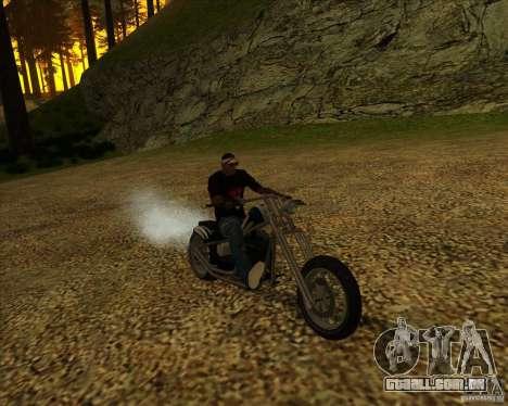 Hexer bike para GTA San Andreas vista interior