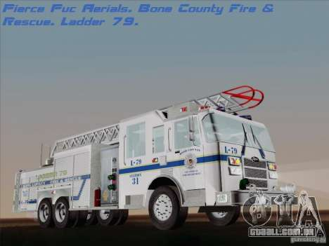 Pierce Puc Aerials. Bone County Fire & Ladder 79 para GTA San Andreas