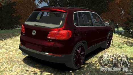 Volkswagen Tiguan 2012 para GTA 4 traseira esquerda vista