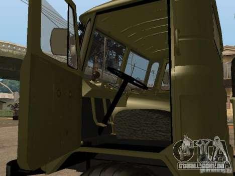 GAZ 66 para GTA San Andreas traseira esquerda vista