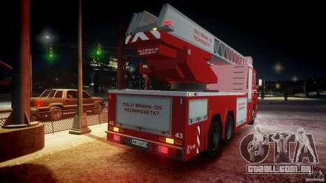 Scania Fire Ladder v1.1 Emerglights blue-red ELS para GTA 4 motor
