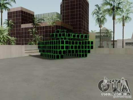 Pixel Tank para GTA San Andreas esquerda vista