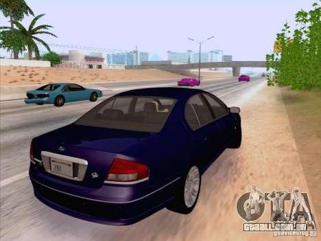 Ford Falcon Fairmont Ghia para GTA San Andreas traseira esquerda vista