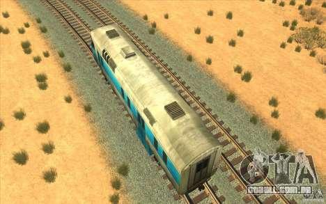 Um trem do jogo Half-Life 2 para GTA San Andreas vista traseira