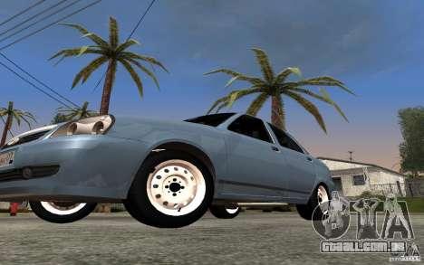 LADA priora luz tuning para GTA San Andreas vista interior
