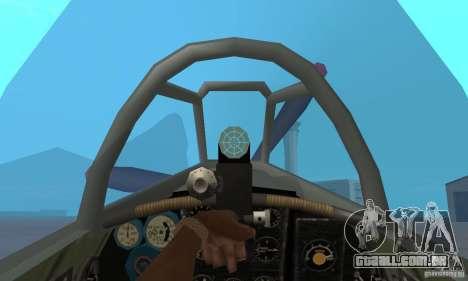 O yak-9 de libré, Sevastopol para GTA San Andreas vista direita
