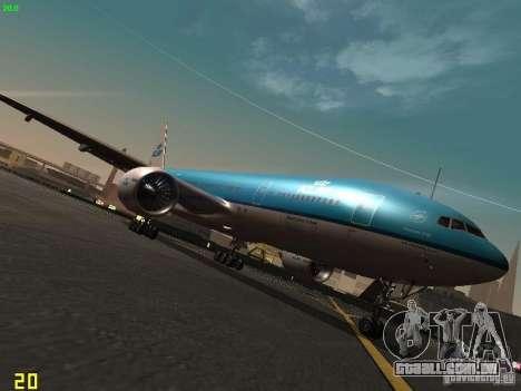 Boeing 777-200 KLM Royal Dutch Airlines para GTA San Andreas