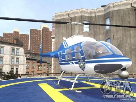Bell 206 B - NYPD para GTA 4 vista de volta
