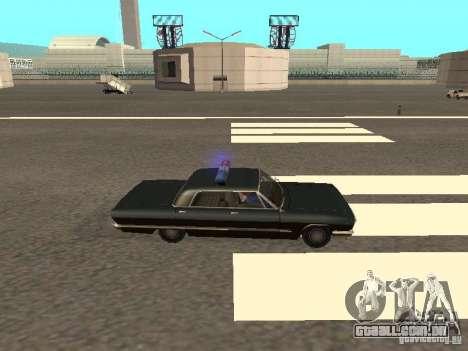 Police Savanna para GTA San Andreas traseira esquerda vista