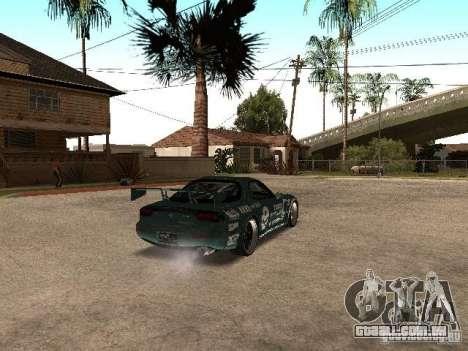 Mazda RX-7 Pro Street para GTA San Andreas vista direita