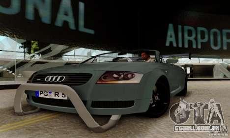 Audi TT Roadster para GTA San Andreas vista traseira