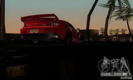 Mazda RX-8 Tuneable para GTA San Andreas vista inferior