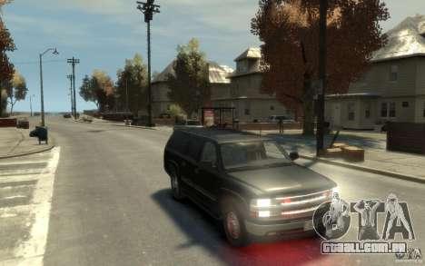 Chevrolet Suburban 2003 FBI para GTA 4 vista de volta