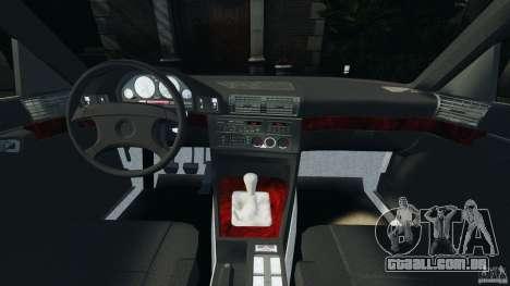 BMW E34 V8 540i para GTA 4 vista de volta