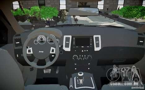 Jeep Grand Cheroke para GTA 4 vista superior