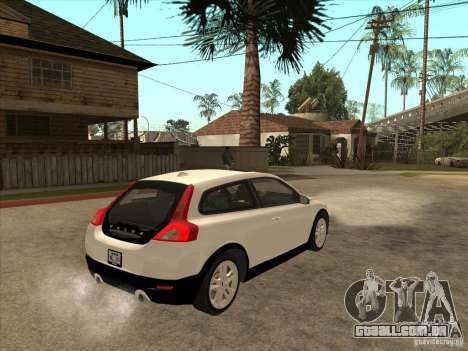 Volvo C30 para GTA San Andreas vista traseira