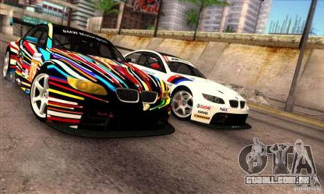 BMW M3 GT2 para GTA San Andreas esquerda vista