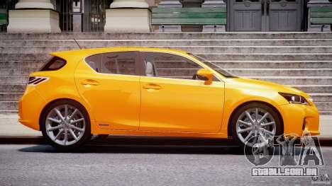 Lexus CT200h 2011 para GTA 4 vista interior
