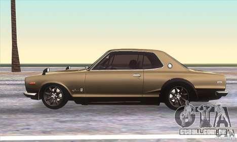 Nissan Skyline 2000 GT-R para GTA San Andreas esquerda vista