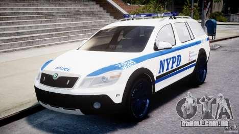 Skoda Octavia Scout NYPD [ELS] para GTA 4 vista interior