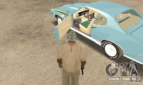 Pontiac GTO The Judge para GTA San Andreas vista traseira