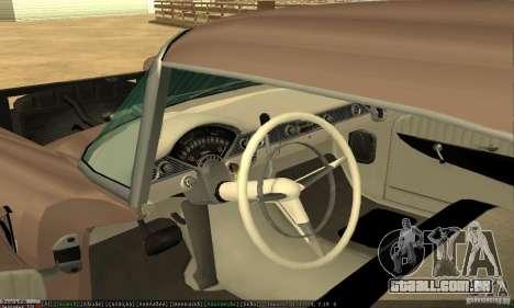 Chevrolet Bel Air Nomad 1956 para GTA San Andreas vista traseira