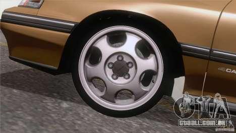 Subaru Legacy RS para vista lateral GTA San Andreas