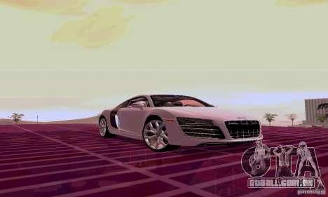 Audi R8 V10 5.2. FSI para GTA San Andreas esquerda vista