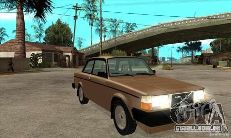 Volvo 240 Turbo para GTA San Andreas vista traseira