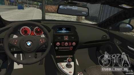 BMW M6 Hurricane RR para GTA 4 vista de volta