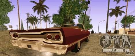 Savanna Detroit 1965 ( v. 2 ) para GTA San Andreas esquerda vista